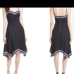Ted Baker Navy Strappy Midi Dress Size 12